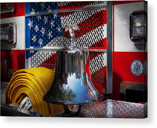 Fire Acrylic Print featuring the photograph Fireman - Red Hot by Mike Savad