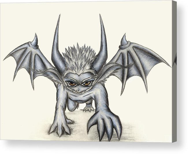 Demon Acrylic Print featuring the painting Grevil by Shawn Dall