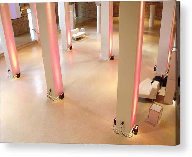 Chicago Acrylic Print featuring the photograph Pink Pillars I by Anna Villarreal Garbis
