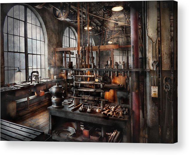 Steampunk Acrylic Print featuring the photograph Steampunk - Room - Steampunk Studio by Mike Savad