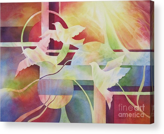 World Peace Acrylic Print featuring the painting World Peace 2 by Deborah Ronglien