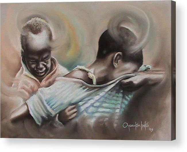 Painting Acrylic Print featuring the painting A Day To Remember by Oyoroko Ken ochuko