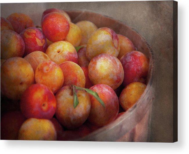 Hdr Acrylic Print featuring the photograph Food - Peaches - Farm Fresh Peaches by Mike Savad