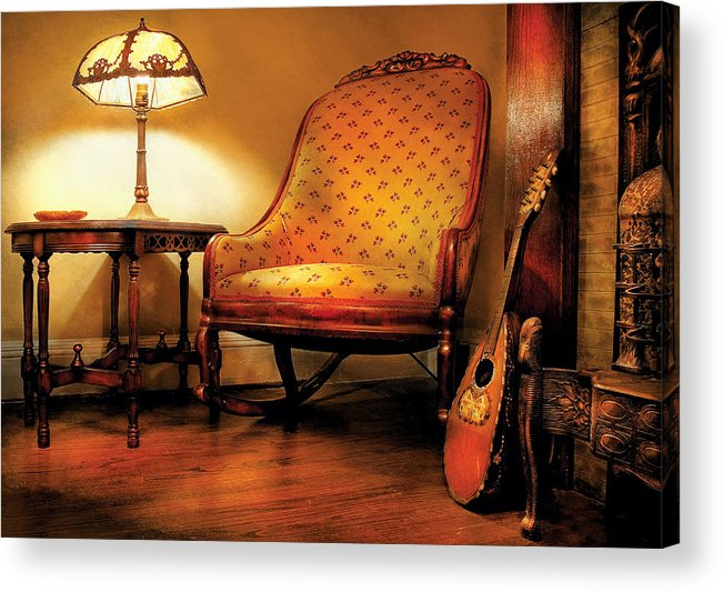 Savad Acrylic Print featuring the photograph Music - String - The Chair And The Lute by Mike Savad