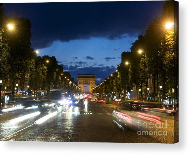 Paris Acrylic Print featuring the photograph Avenue Des Champs Elysees. Paris by Bernard Jaubert