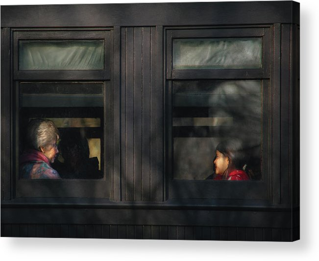 Savad Acrylic Print featuring the photograph Children - Generations by Mike Savad