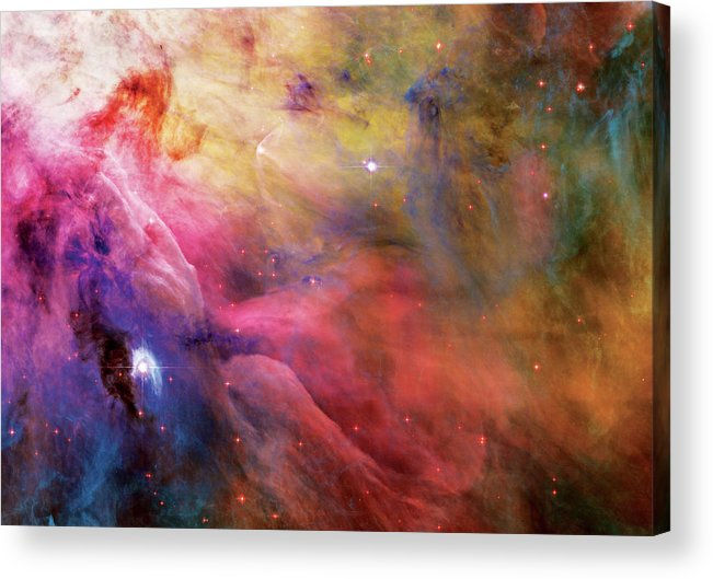 Nebula Acrylic Print featuring the photograph Warmth - Orion Nebula by The Vault - Jennifer Rondinelli Reilly