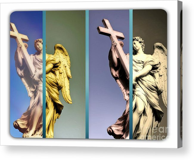 Angels Acrylic Print featuring the photograph Angel And Supernatural by Stefano Senise