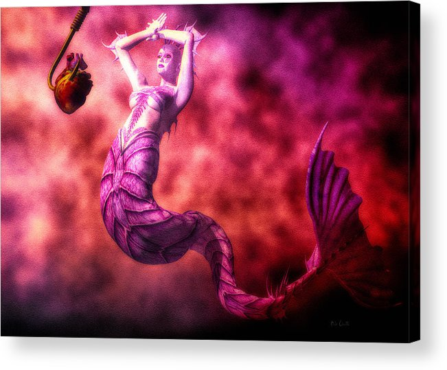 Mermaids Acrylic Print featuring the digital art How To Catch Mermaids by Bob Orsillo