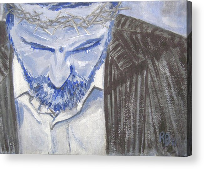 Jesus Acrylic Print featuring the painting Modern Passion by Robie Benve