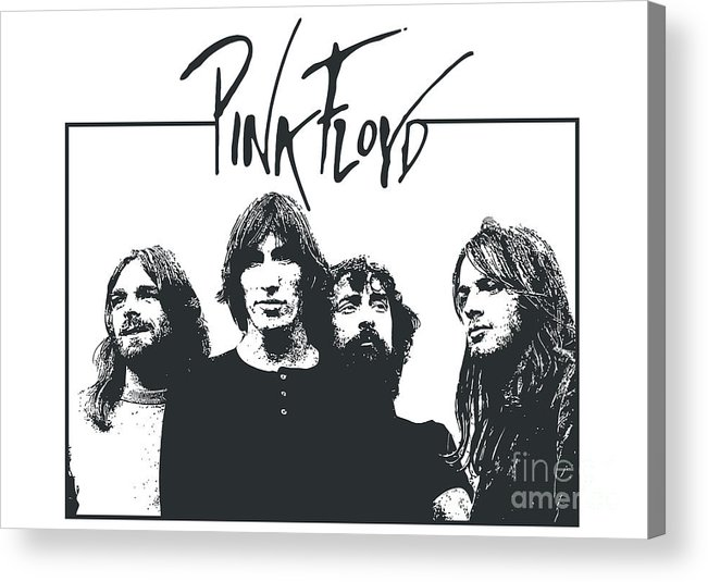 Pink Floyd Acrylic Print featuring the digital art Pink Floyd No.05 by Caio Caldas