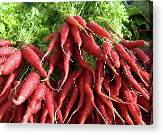 Carrots Acrylic Print featuring the photograph Red Carrots by Charlette Miller