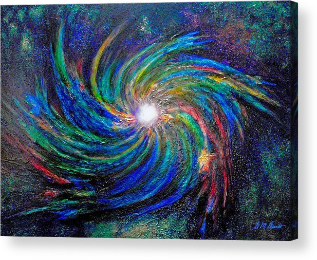 Digital Acrylic Print featuring the painting Star Birth by Michael Durst