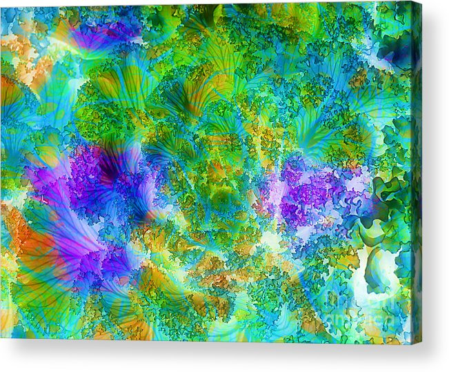 Cabbage Acrylic Print featuring the photograph In The Cabbage Patch by Judi Bagwell