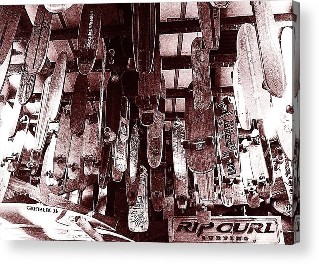 Skateboards Acrylic Print featuring the photograph Skate Shop by Jame Hayes
