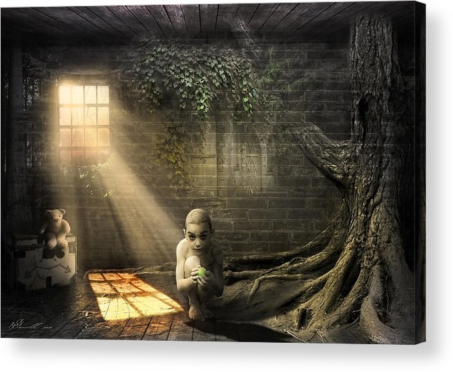 Abandoned Acrylic Print featuring the photograph Wishing Play Room by Svetlana Sewell