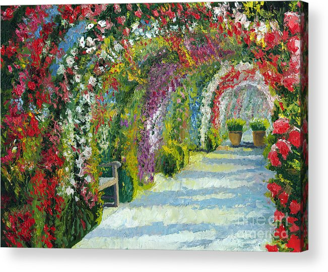 Oil Acrylic Print featuring the painting Germany Baden-baden Rosengarten by Yuriy Shevchuk