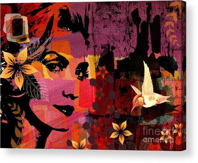 Illustration Acrylic Print featuring the digital art Celebrating Life by Ramneek Narang