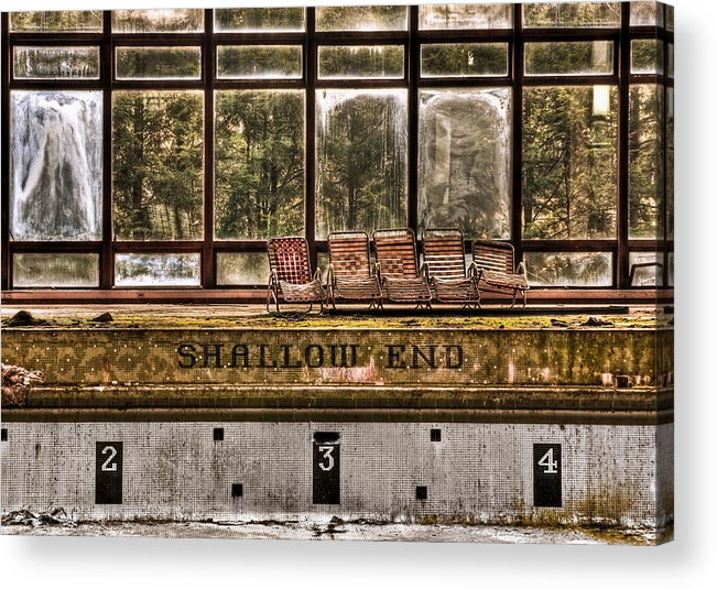 Abandoned Acrylic Print featuring the photograph Shallow End by Evelina Kremsdorf