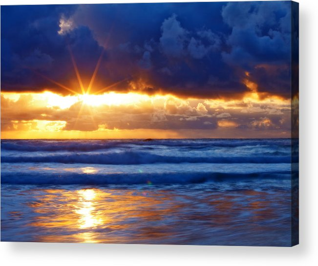 Sunset Acrylic Print featuring the photograph Fire On The Horizon by Darren White