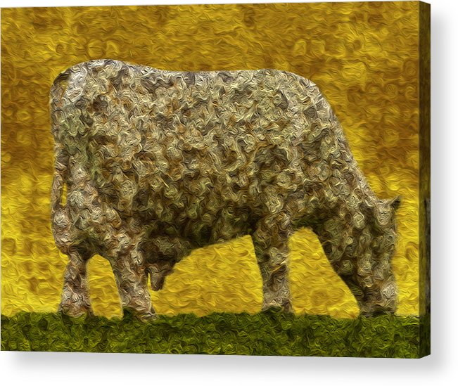 Digital Acrylic Print featuring the painting Grazing 2 by Jack Zulli