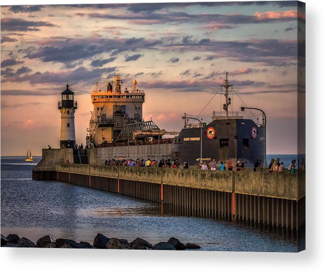 Duluth Acrylic Print featuring the photograph Ship Ahoy by Mary Amerman