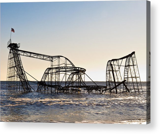 Hurricane Sandy Photographs Photographs Acrylic Print featuring the photograph Wild Ride by Michael Attanasio