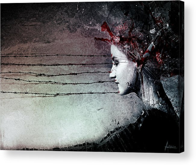 Music Acrylic Print featuring the digital art You Promised Me A Symphony by Mario Sanchez Nevado