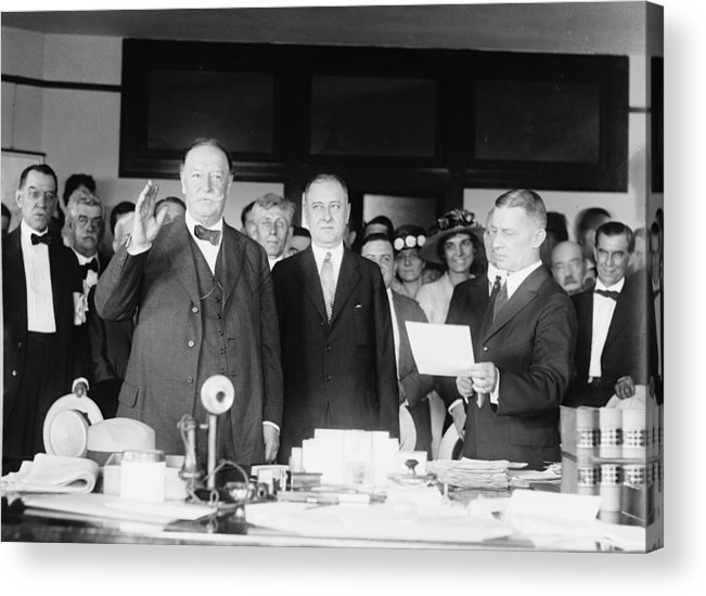 Us Presidents Acrylic Print featuring the photograph Ex-president William Howard Taft by Everett