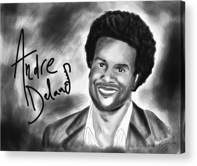 Andre Delano Acrylic Print featuring the drawing Andre Delano by Pierre Louis