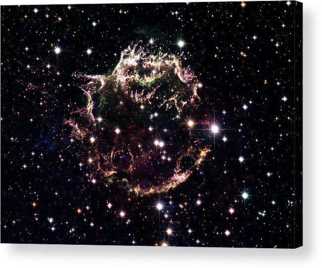 Stars Acrylic Print featuring the photograph Animation Of A Supernova Explosion by Harvey Richer