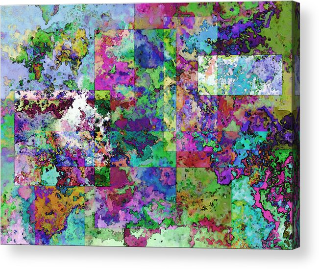 Abstract Acrylic Print featuring the drawing Geometrix by Debbie Portwood