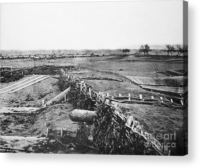 1861 Acrylic Print featuring the photograph Civil War: Quaker Guns by Granger
