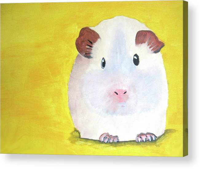 Guinee Acrylic Print featuring the painting Guinee Pig by Darren Stein