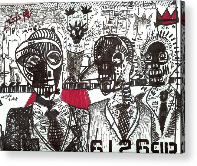 Rwjr Acrylic Print featuring the drawing Private Party by Robert Wolverton Jr