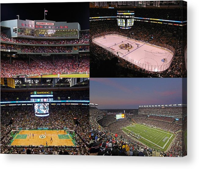 Boston Acrylic Print featuring the photograph Boston Sports Teams And Fans by Juergen Roth