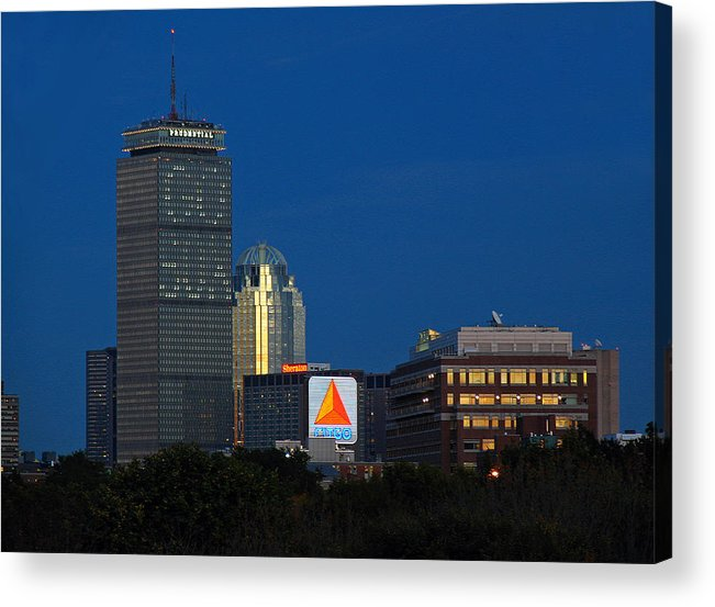 Opening Acrylic Print featuring the photograph Go Red Sox by Juergen Roth