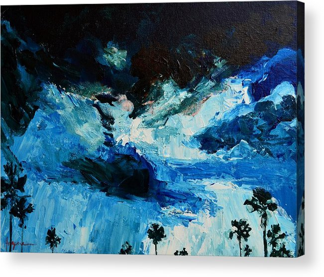 Art Acrylic Print featuring the painting Silhouette Of Nature II by Patricia Awapara