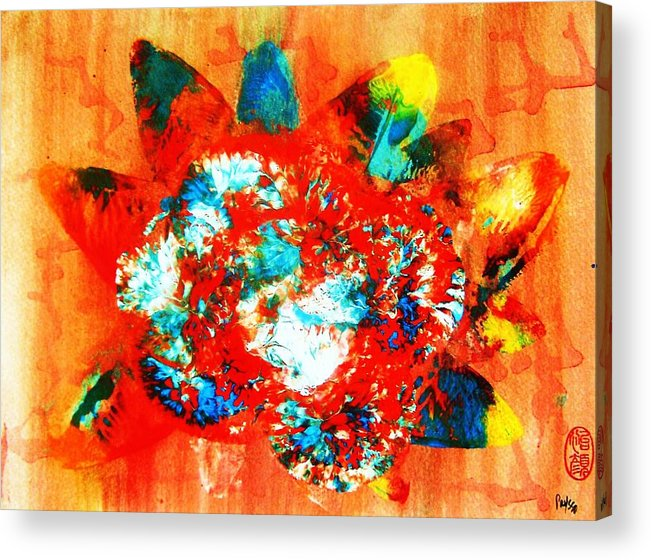 Abstract Acrylic Print featuring the painting Starburst Nebula by Roberto Prusso