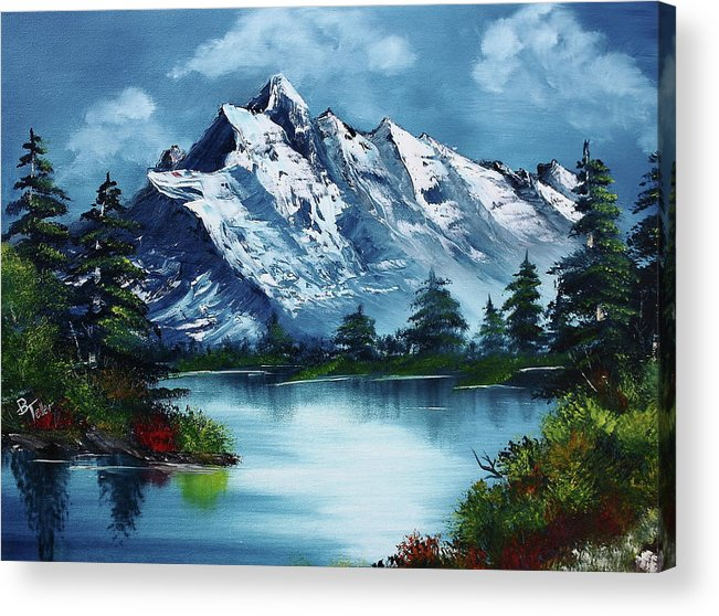 Acrylic Print featuring the painting Take A Breath by Barbara Teller