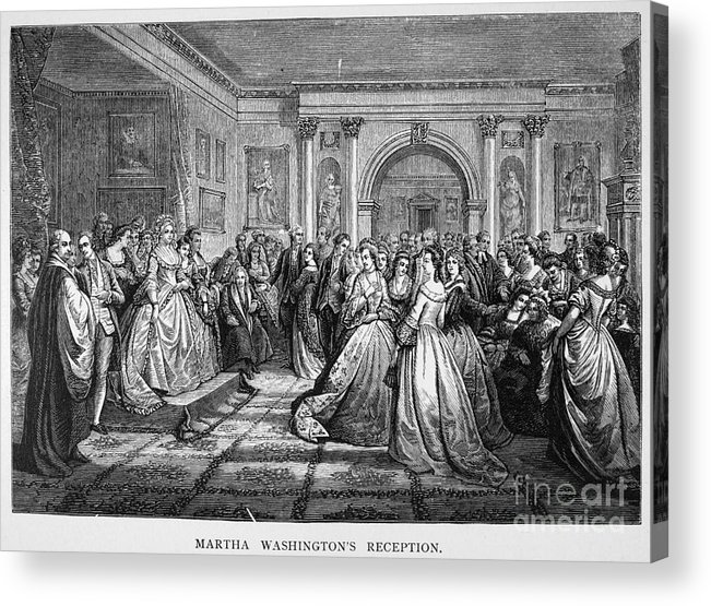 18th Century Acrylic Print featuring the photograph Washington Reception by Granger