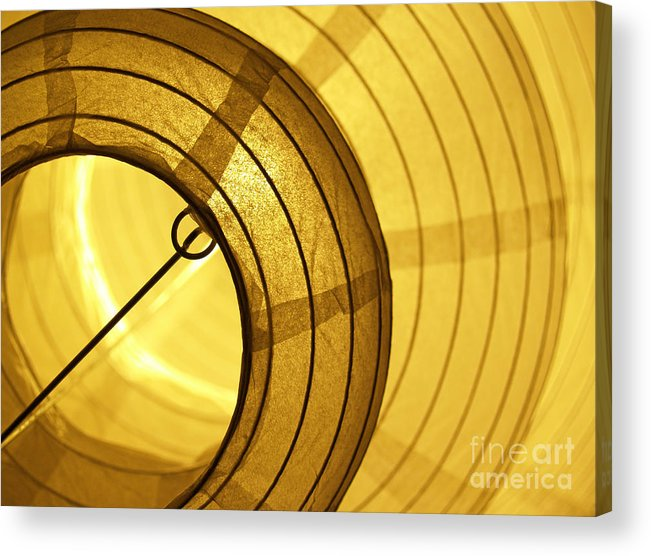 Lantern Acrylic Print featuring the photograph Asian Paper Lantern From Below by Anna Lisa Yoder