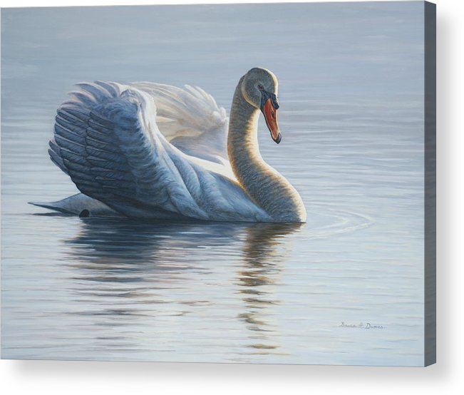 Wildlife Acrylic Print featuring the painting In To The Light by Bruce Dumas