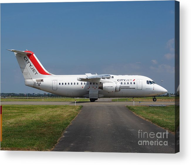 737 Acrylic Print featuring the photograph Cityjet British Aerospace Avro Rj85 by Paul Fearn