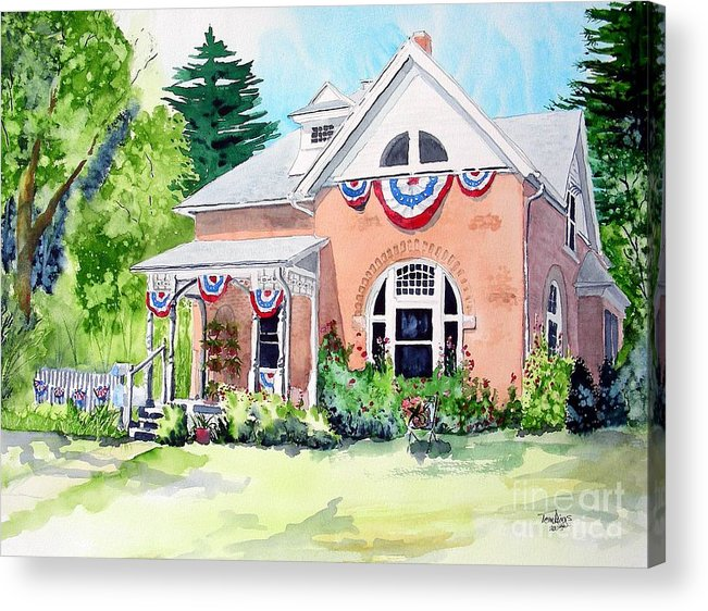 Americana Acrylic Print featuring the painting Americana by Tom Riggs