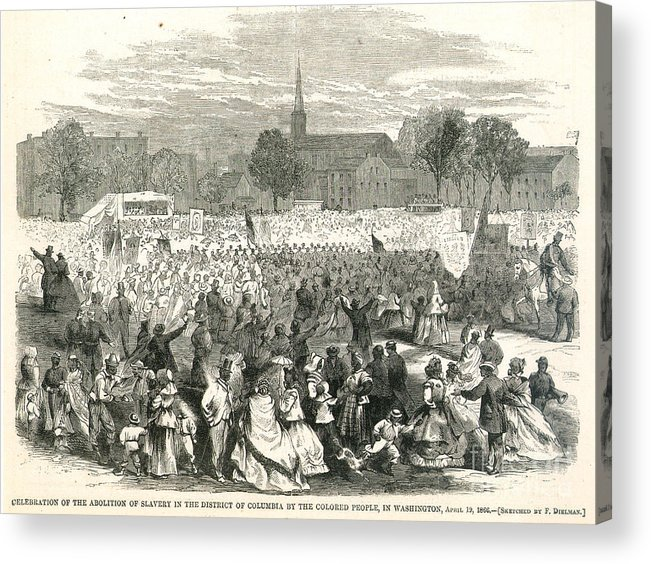 1866 Acrylic Print featuring the photograph Washington: Abolition, 1866 by Granger