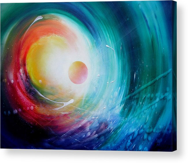 Microcosm Acrylic Print featuring the painting Sphere F31 by Drazen Pavlovic