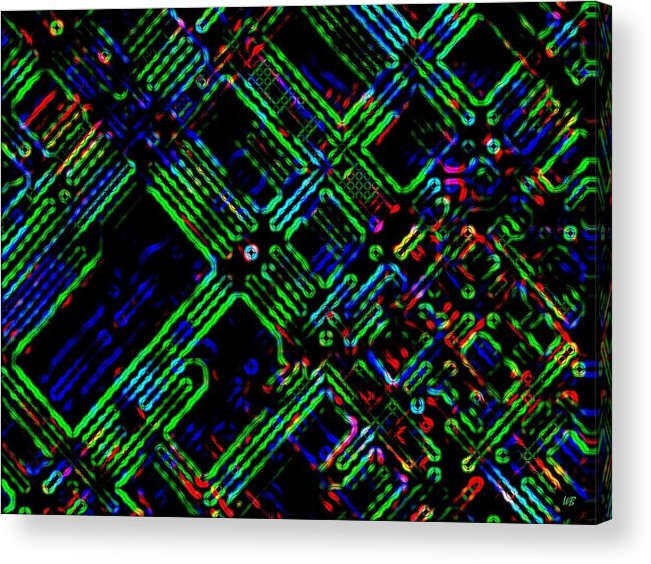 Abstract Acrylic Print featuring the digital art Diffusion Component by Will Borden