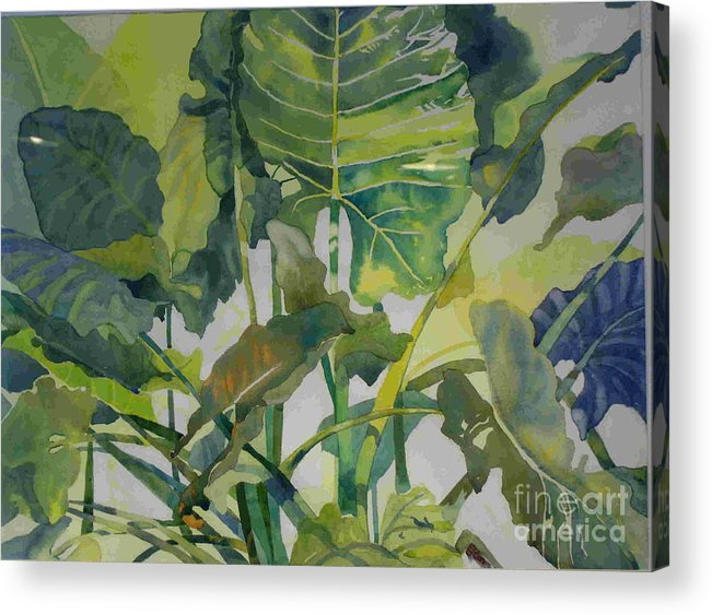 Green Acrylic Print featuring the painting Mess Of Greens by Elizabeth Carr