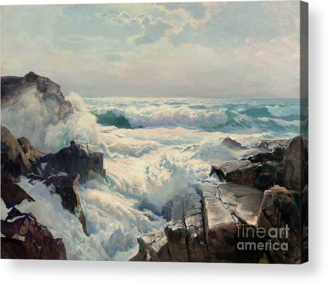 On The Maine Coast Acrylic Print by Pg Reproductions
